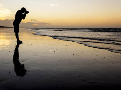 Professional Photographer on Beach